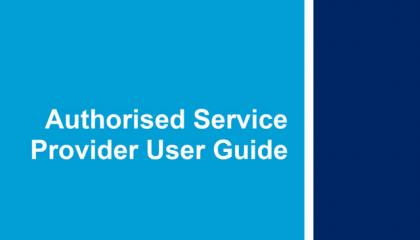 authorised service provider user guide front cover