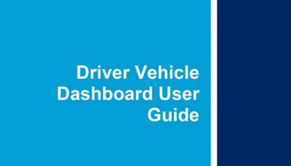 Driver user dashboard user guide front cover