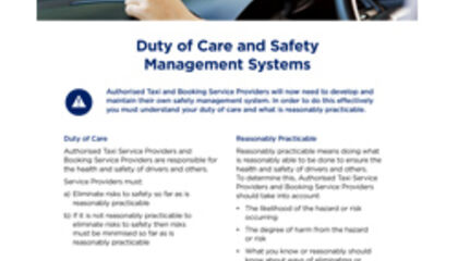 Duty of Care Safety Management System fact sheet